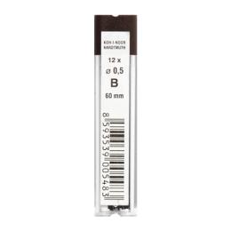 Grafitové tuhy KOH-I-NOOR B / 0,5 mm, 12 ks