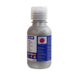 Bottle of 125ml silver poster colour