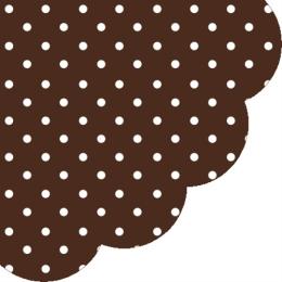 Obrúsky PAW R 32 cm Dots Chocolate