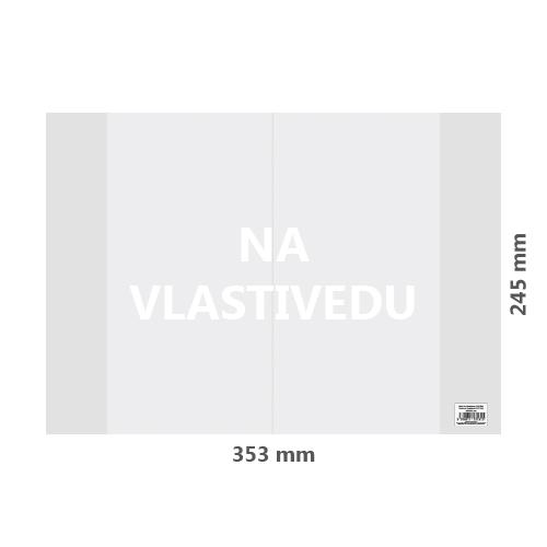 Obal na Vlastivedu PVC 353x245 mm, hrubý/transparentný, 1 ks