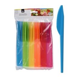 Nôž plastový farebný, sada 48 ks/mix 6 farieb