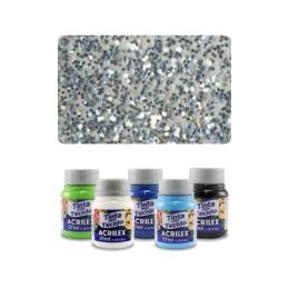 ACR Farba na textil 37ml, Glitter Silver