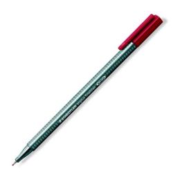 """Liner, 0,3 mm, STAEDTLER """"Triplus"""", karminovo červený"""