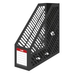 Stojan na časopisy A4 JUNIOR - plastový/čierny