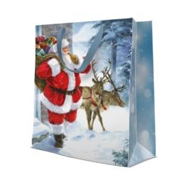 Darčeková taška PAW LARGE Santa is coming, 26,5x33,5x13 cm