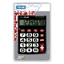 Kalkulačka MILAN stolová 8-miestna 151708 čierna
