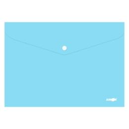 Obal s patentkou PP/A4 Pastel - modrý