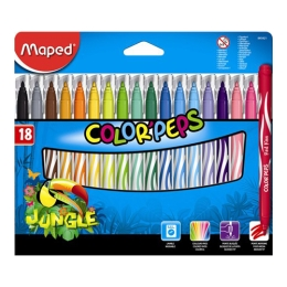 "Fixy MAPED ""COLOR`PEPS JUNGLE"", 18 ks"
