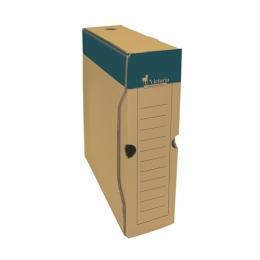 Archívny box, A4, 80  mm, kartón, VICTORIA, prírodný