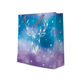 Darčeková taška PAW Reflex Geometric Deer, medium - 20x25x10 cm