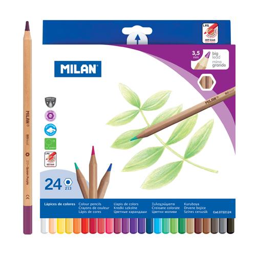 Pastelky MILAN šesťhranné 3.3 mm / 24 ks
