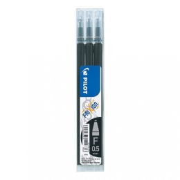 Pilot Frixion Erasable Gel Ink Refill 3 Pack Black