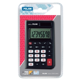 8-DIGIT BLACK CALCULATOR WALLET 150208