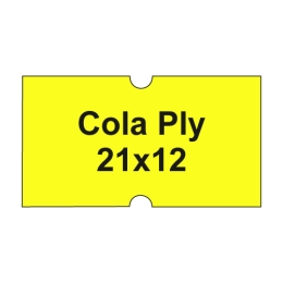 Etikety cen. COLA PLY 21x12 hranaté - 1250 etikiet/kotúčik, žlté
