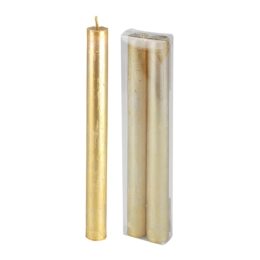 Sviečka - zlatá 22 cm, set 2ks