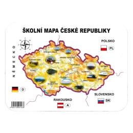 Školská papierová mapa ČR šablóna geografická