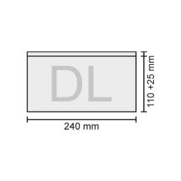 Obálka DL transportná 240x110+25 mm, bal/100 ks