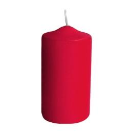 Sviečka valcová pr.60 x 120 mm červená