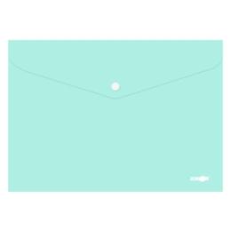 Obal s patentkou PP/A4 Pastel - zelený