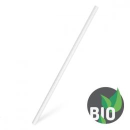 Slamky papierové JUMBO biele 20 cm, 100 ks