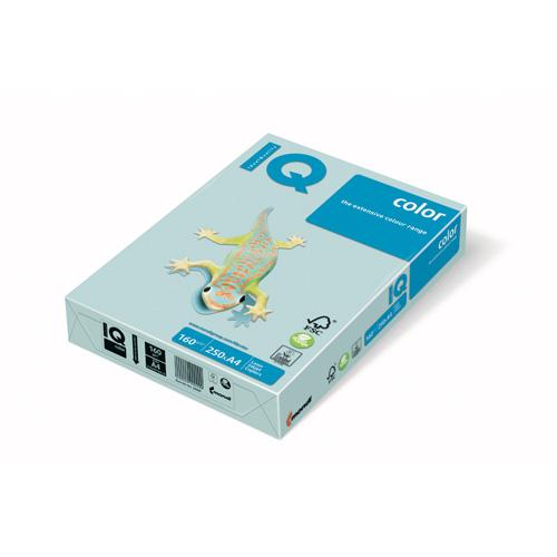 Kopírovací papier A4 IQ 160g color modrý