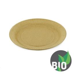 Tanier papierový plytký - hnedý 23 cm, 100 ks