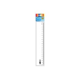Pravítko 20 cm, transparentné