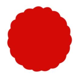 Rozetky Premium O 9cm červené 40ks