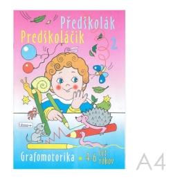 Omaľovánka náučná A4 Litera - Predškoláčik 2