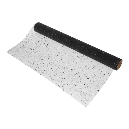 Dekoračná organza 200x38 cm - čierna/glitter, 1ks