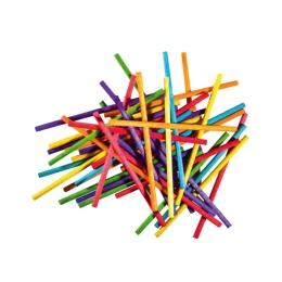 Dekoračné paličky okrúhle mix farieb, sada 80 ks