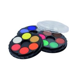 Farby vodové KOH-I-NOOR okrúhle, sada 18 ks