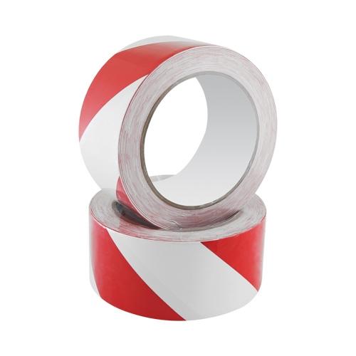 Bezpečnostná páska Safety Tape 48 mm x 20 m, bielo/červená