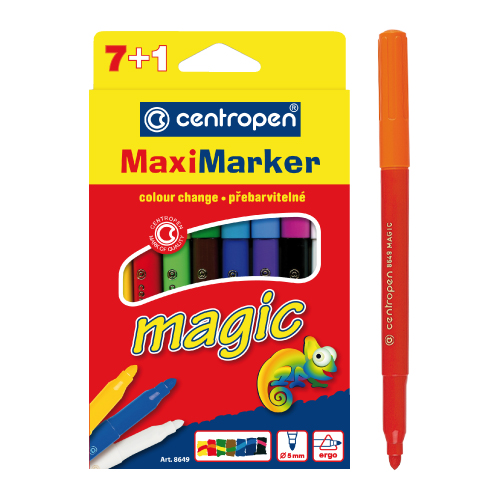 Fixy CENTROPEN 8649 Maxi Magic - sada 8 ks