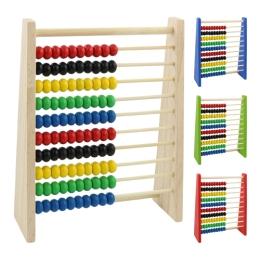Počítadlo - drevené 16x20x5 cm, mix 4 farieb