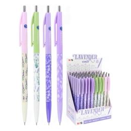 Pero guľôčkové M&G Lavender 0.38 mm, modré