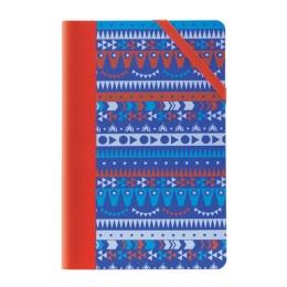 Zápisník štvorčekový MILAN 21x14 cm circus modrý