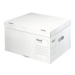 """Archívny kontajner, veľkosť L, recyklovaný kartón, LEITZ """"Infinity"""", biely"""