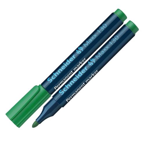 """Permanentný popisovač SCHNEIDER """"Maxx 130, 1-3 mm, kuželový hrot, zelený"""
