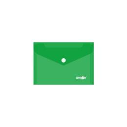 Obal s patentkou PP/A6, priehľadný/zelený