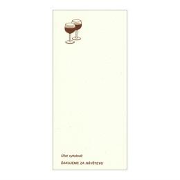 Čašnícka účtenka rec.papier s potlačou 15x7 cm (907)