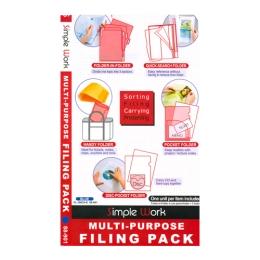Folder set 5pcs pink FL100CH