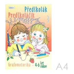 Omaľovánka náučná  A4 Litera - Predškoláčik 3