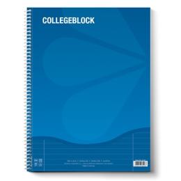 Blok A4 College s bočnou špirálou čistý 80 L