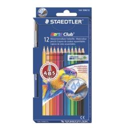 """Akvarelové ceruzky, so štetcom, STEADTLER """"Noris Club"""", 12 rôznych farieb"""