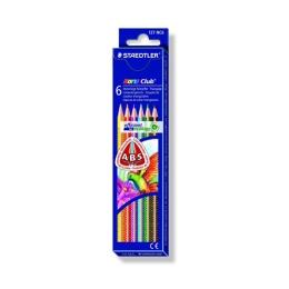 """Farebné ceruzky, trojuholníkový tvar, STAEDTLER """"Noris Club"""", 6 rôznych farieb"""