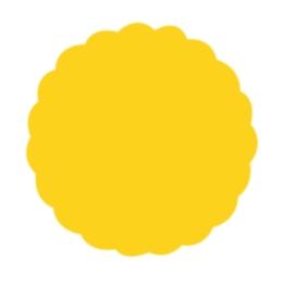 Rozetky Premium O 9cm žlté 40ks