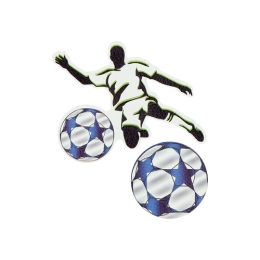 Sticker na tašku Football Player, sada 2 ks