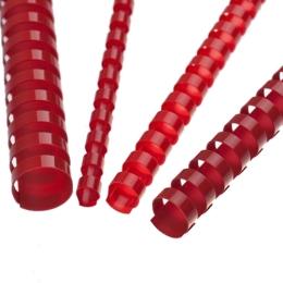 Hrebene plastové 8 mm červené