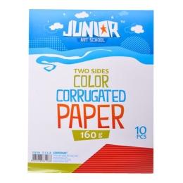Dekoračný papier A4 červený vlnkový 160 g, sada 10 ks